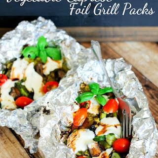 Vegetable Caprese Foil Grill Packs