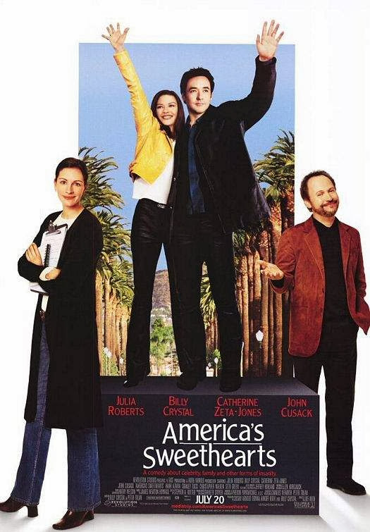 Poster Of America's Sweethearts (2001) Full Movie Hindi Dubbed Free Download Watch Online At Alldownloads4u.Com