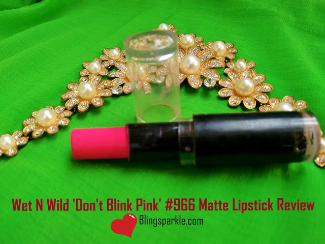 Wet n wild blink pink fuchsia lipstick swatch and review