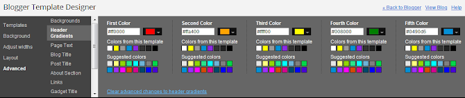 5 tabs and each lets you change a color