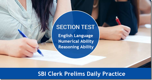 SBI Clerk Section Wise Online Mock Test for Practice set 3 & 4