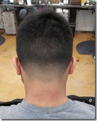 Mens taper fade haircut