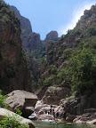 Fin du canyon et paysage éblouissant.