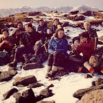 1963.02.24 Llyn Llydaw Margaret, Mike, Peter, Sue, Margaret, Sheil, Owen.jpg
