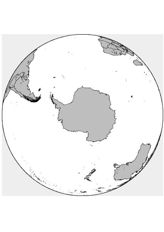 Antártida para colorear