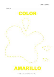 Dibujo para delinear y trazar el color amarillo