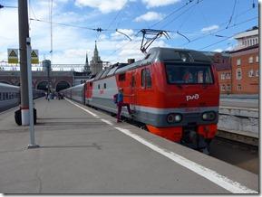 Moscou gare de Kazan quai de depart du transibérien