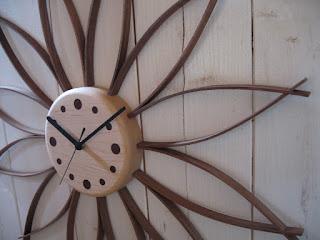 サンフラワークロック(L)メープル sunflower clock maple (L)