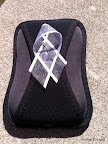 White ribbons are a symbol to bring awareness to violence against women. I pinned mine to my camera case.