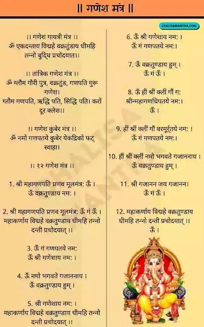 Ganesh Mantra Image Lyrics