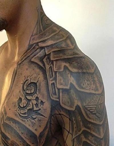 Guerreiro projetos do tattoo de ideias de homens sobre o Ombro