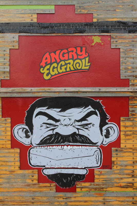 Angry Eggroll Street Graffiti in Austin, Texas