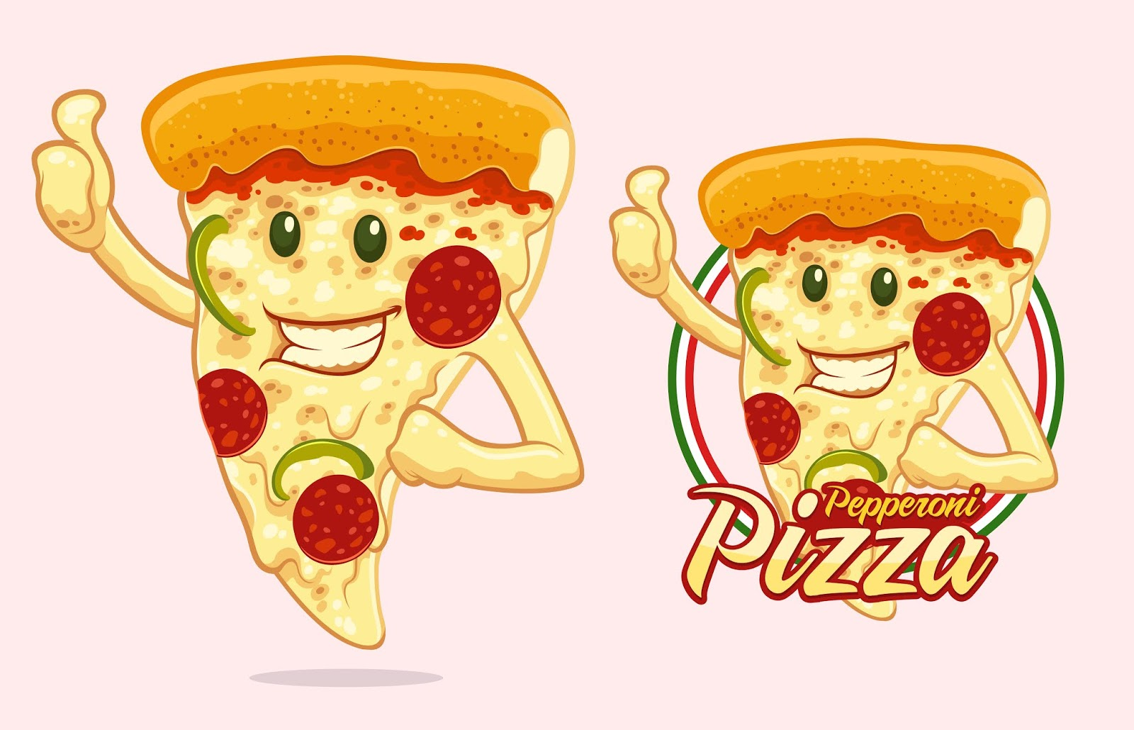 Pizza Mascot Design Pizza Vendor Free Download Vector CDR, AI, EPS and PNG Formats