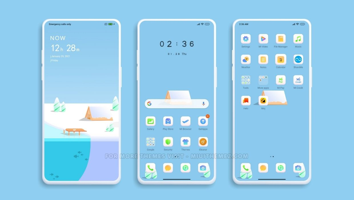 Colorful Winter MIUI Theme