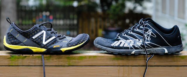 New Balance Minimus Trail and the Inov-8 f-lite 230