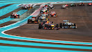2nd corner after start of 2013 Abu Dhabi F1 GP