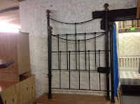 524j - Single brass & Iron bed frame £69.00
