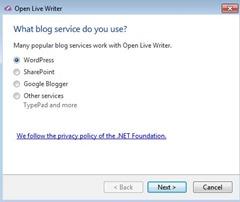 добавить новый блог wp в olw
