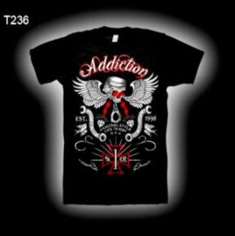Addiction Brand   tattoo T shirts   Biker Clothing   Wholesale