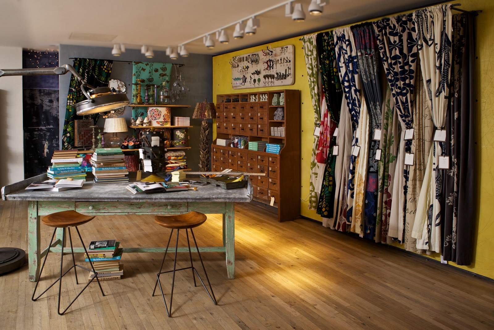 Style court anthropologie to debut decorator shop for Cool furniture and home decor stores
