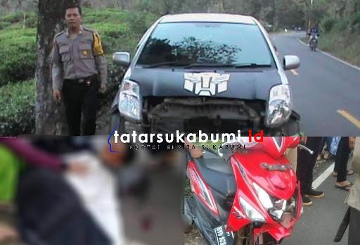 Avanza Tabrak Honda Beat di Jalan Palabuhanratu - Surade