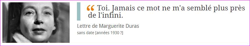 Lettre de Marguerite Duras