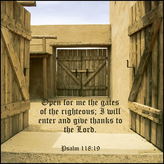 2018 Week 9 Psalm 118v19