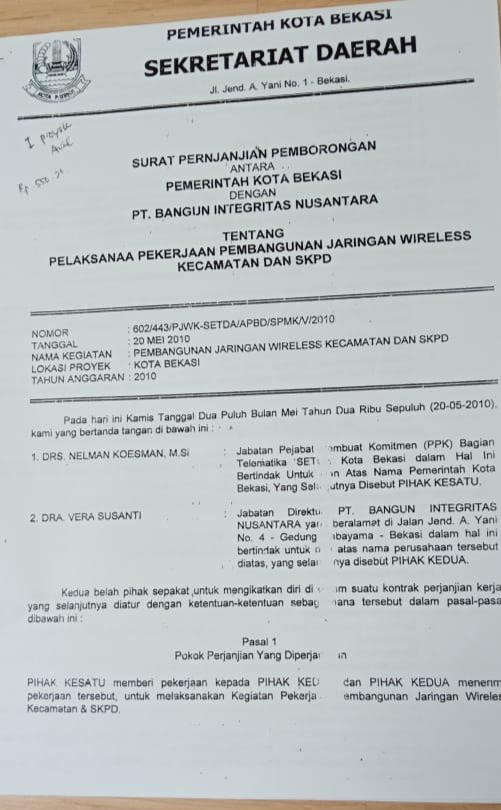 Pemkot Bekasi Klarifikasi Terkait Spk Bodong Pos Berita Indonesia