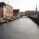 canals in downtown in Copenhagen, Copenhagen, Denmark
