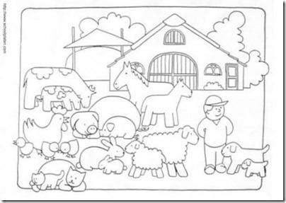 granja y animales colorear (5)