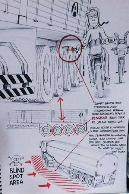 Peringatan untuk penunggang motosikal.