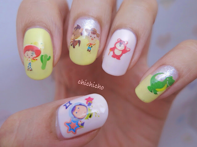Toy Story Water Decal Nail Art woody buzz lightyear bear