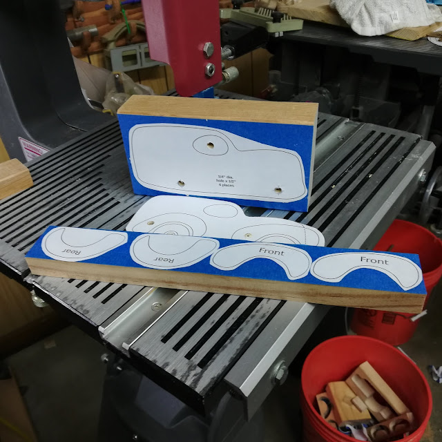 Scroll Saw Patterns for a Fat Fendered Freaky Ford Attached With Blue Tape