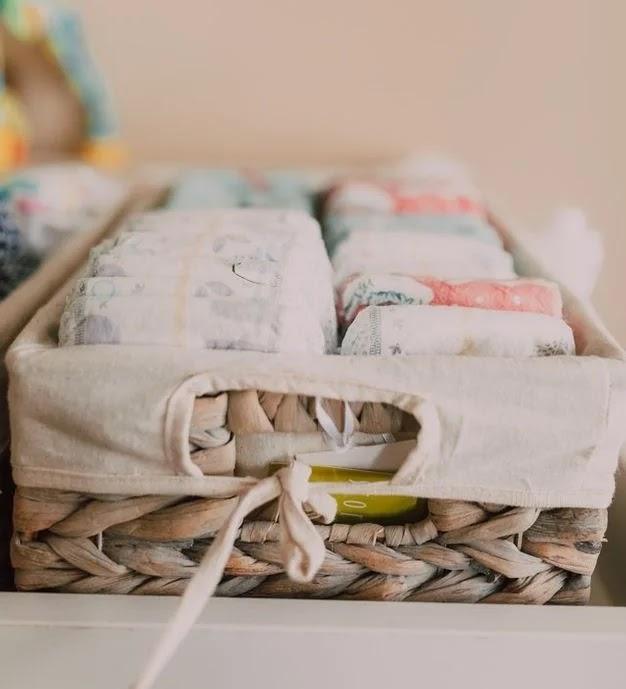 A basket of diapers