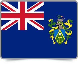 Pitcairn Island framed flag icons with box shadow