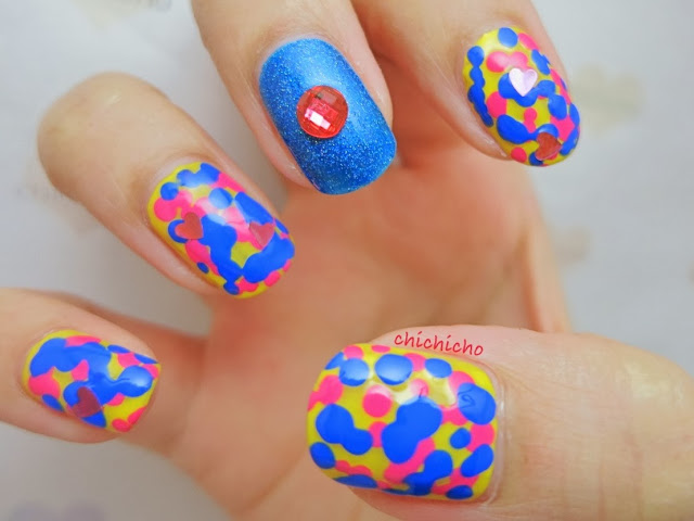 Cloudy with a Chance of Meatball 2 - Party in a Box Nail Art