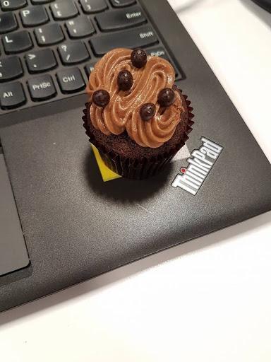 Chocolate cupcake for tea break
