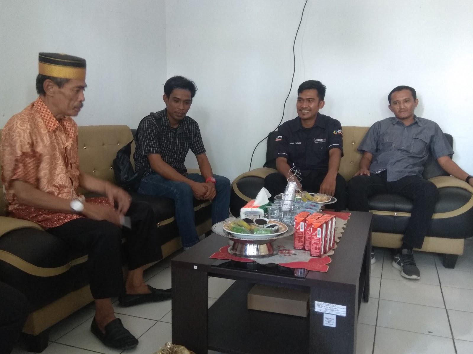 Dinas Kominfo  Soppeng Terima Kunjungan Pimpinan Redaksi Media Online Beritabersatu.com