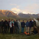 Lépidoptéristes de l'ALF à Kara-Say, Koksaal Alatau, Kyrgyzistan, 12 juillet 2006. Photo : J.-M. Gayman