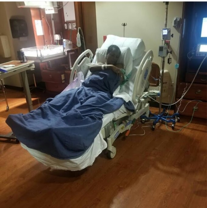 FUNNY! Don Jazzy Visits Linda Ikeji On Her Maternity Bed (Photo)