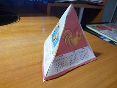 пирамида календарь 2017 с петухом