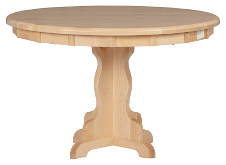 "46"" Colonial Round Dining Table in Natural Hard Maple"