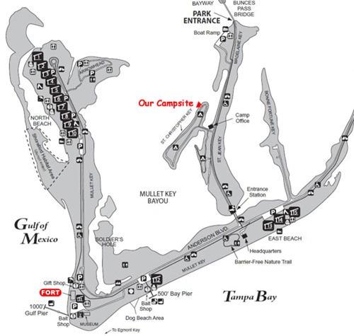 Fort Desoto Map