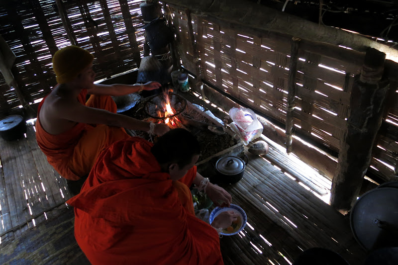 Monks cooking our breakfast
