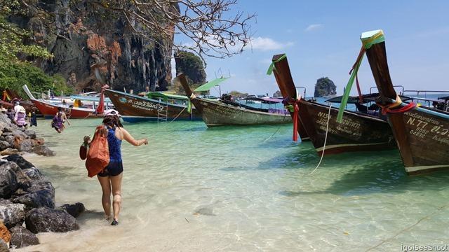 Southern end of Phra Nang Beach. At Railay, Krabi