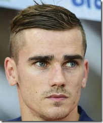 Antoine Griezmann High Skin Fade With Comb Over