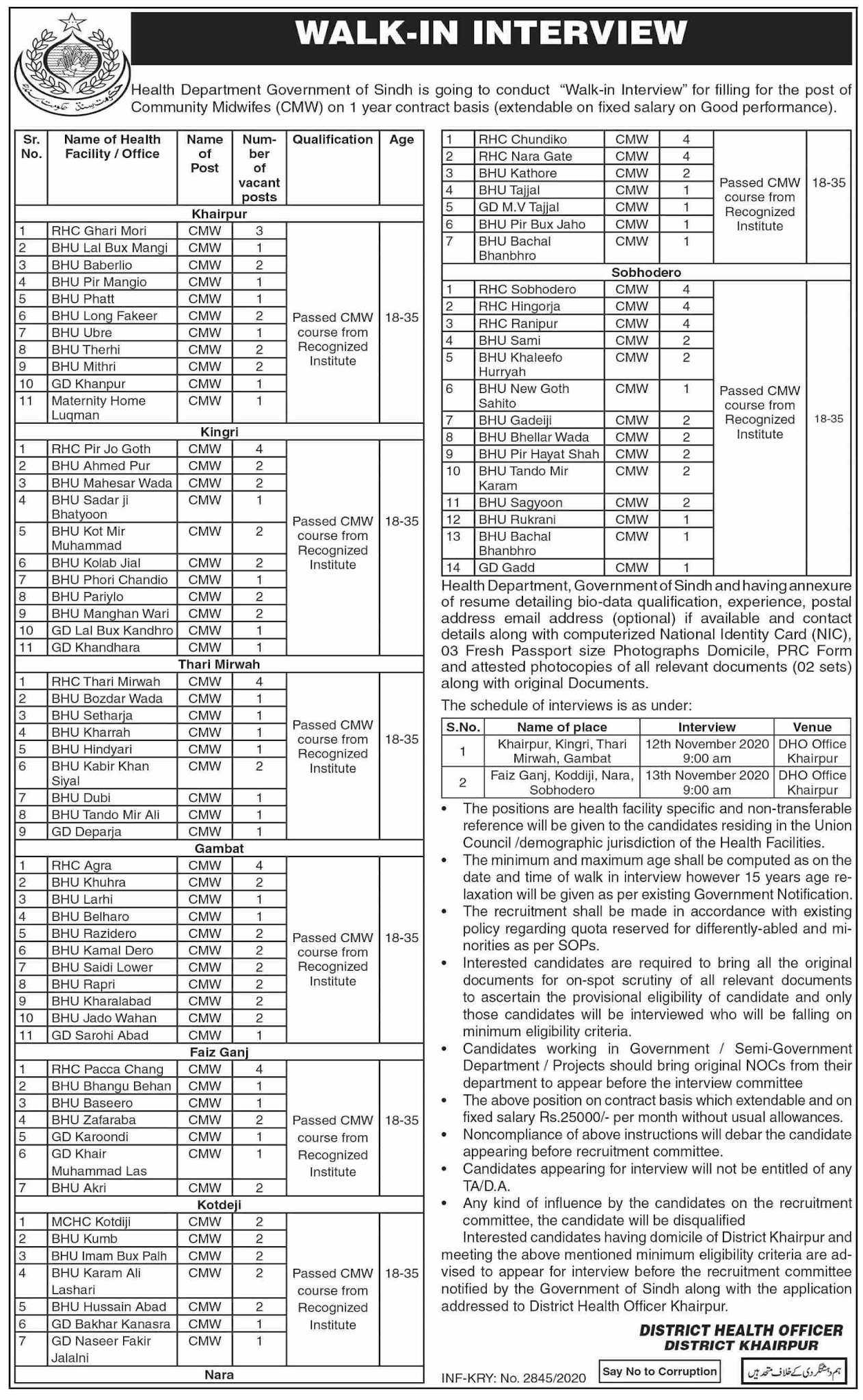 DHO Jobs October 2020 (463 Posts)