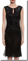 Gina Bacconi beaded frilled hem dress