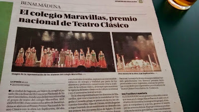 """La Opinión de Málaga """"Las Suplicantes"""""""