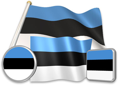 Estonian flag animated gif collection